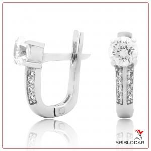 Сережки срібні «Розета» ФОТО-SRIBLODAR TM