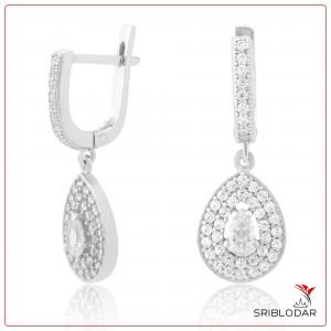 Сережки срібні «Еленор» ФОТО-SRIBLODAR TM