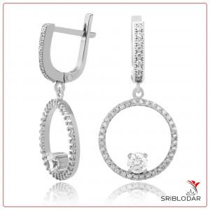 Сережки срібні «Тіволі» ФОТО-SRIBLODAR TM