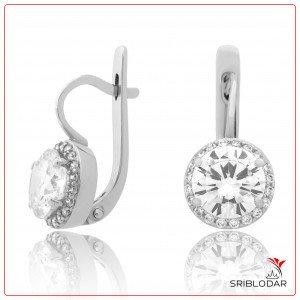 Сережки срібні «Роза» ФОТО-SRIBLODAR TM