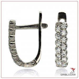 Сережки срібні «Тантіні» ФОТО-SRIBLODAR TM
