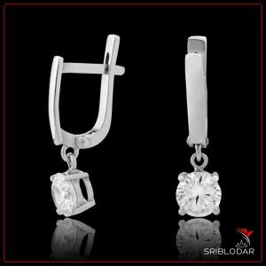 """Серьги серебряные """"Натале""""арт.76052 ФОТО - SRIBLODAR"""