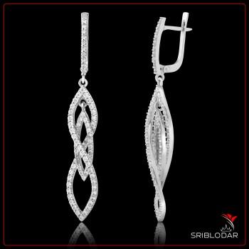 Сережки срібні «Нілда» ФОТО - SRIBLODAR