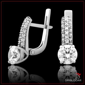 Сережки срібні «Ноелія» ФОТО - SRIBLODAR