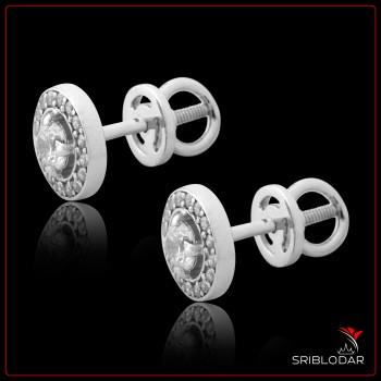 Сережки пусети  срібні на закрутці «Тоніа» ФОТО - SRIBLODAR