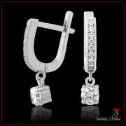 """Серьги серебряные """"Трапани""""арт.52001"""