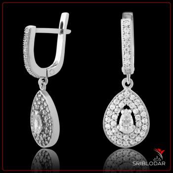 Сережки срібні «Еленор» ФОТО - SRIBLODAR