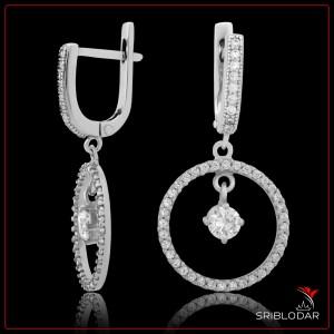 """Сережки срібні """"Елетра""""арт.52040"""