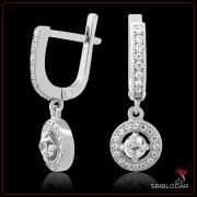 """Сережки срібні """"Таранто""""арт.52066"""