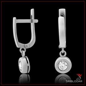 """Сережки срібні """"Нанзія""""арт.76050"""