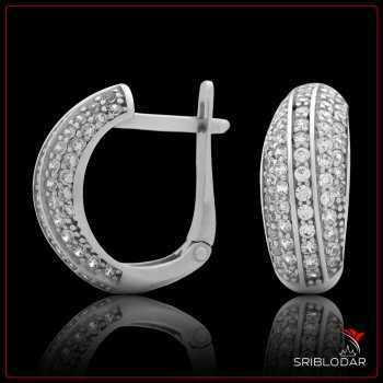 Сережки срібні «Нереза» ФОТО - SRIBLODAR
