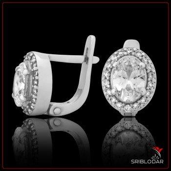 Сережки срібні «Ноемі» ФОТО - SRIBLODAR