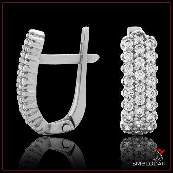 Сережки срібні «Норма» ФОТО - SRIBLODAR