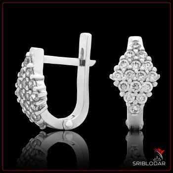Сережки срібні «Піна» ФОТО - SRIBLODAR