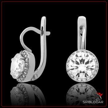 Сережки срібні «Роза» ФОТО - SRIBLODAR