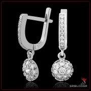"""Сережки срібні """"Тревізо""""арт.52003"""
