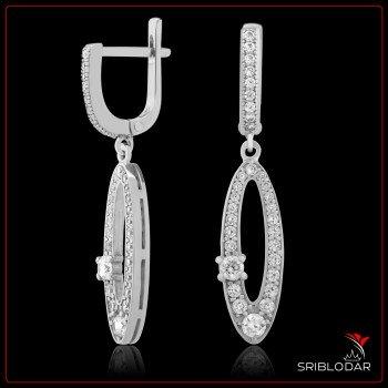 Сережки срібні «Тріест» ФОТО - SRIBLODAR