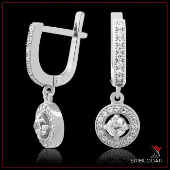 Сережки срібні «Таранто» ФОТО - SRIBLODAR