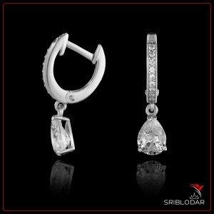 """Срібні сережки """"Палермо"""" арт.210069 ФОТО - SRIBLODAR"""