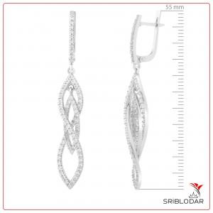 Сережки срібні «Нілда» ФОТО-SRIBLODAR TM