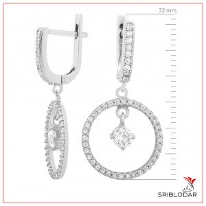 Сережки срібні «Елетра» ФОТО-SRIBLODAR TM